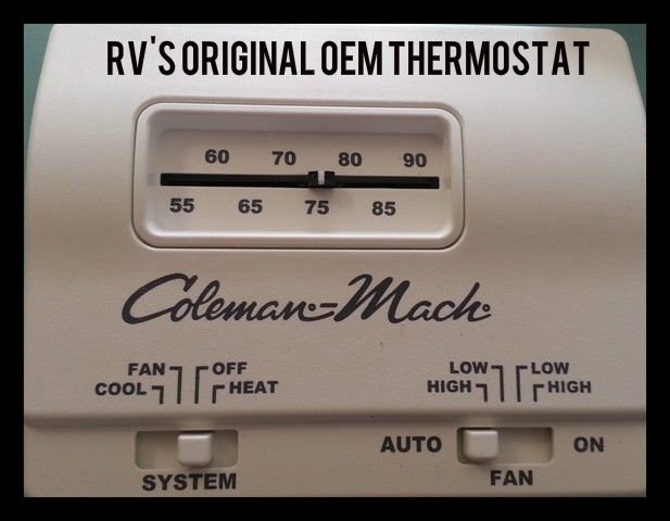 coleman mach oem hunter 42999b digital rv thermostat upgrading the oem thermostat hunter thermostat 42999b wiring diagram at gsmx.co