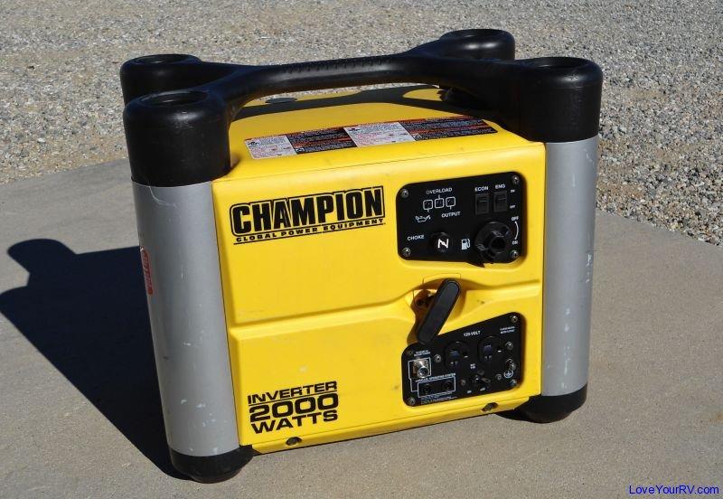 Champion 2000 Watt Inverter Generator - Love Your RV review article