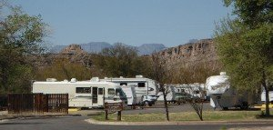 Our campground at Rio Grande Village