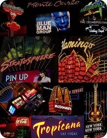 Vegas Neon Sign Collage Photo