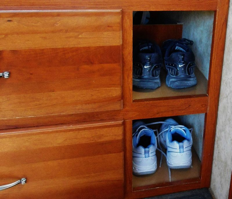 Keystone Cougar Fifth Wheel Shoe Storage Mod Loveyourrv