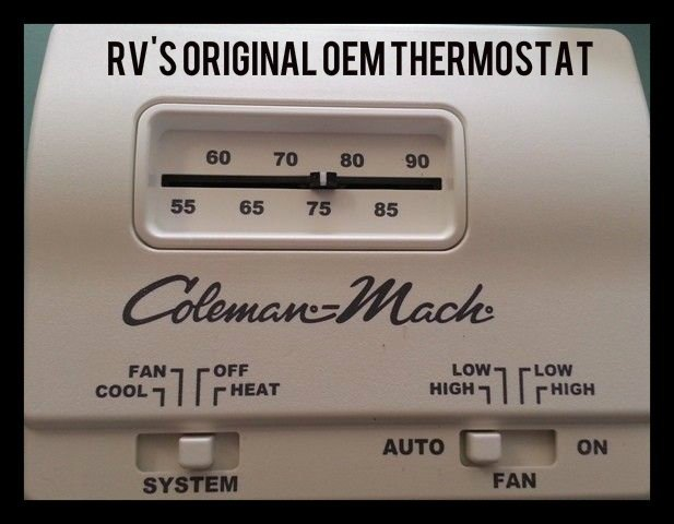 coleman mach thermostat wiring diagram coleman hunter 42999b digital rv thermostat upgrading the oem thermostat on coleman mach thermostat wiring diagram