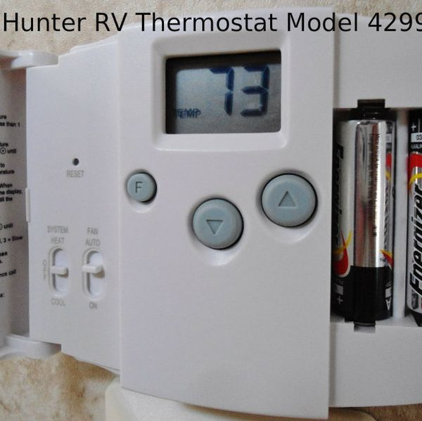 Hunter 42999b Digital Rv Thermostat Upgrading The Oem