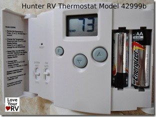 Hunter RV Thermostat Model 42999b - Open