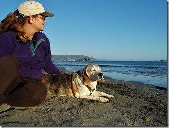 Oscar on the Beach