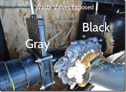Tank Waste Valves exposed