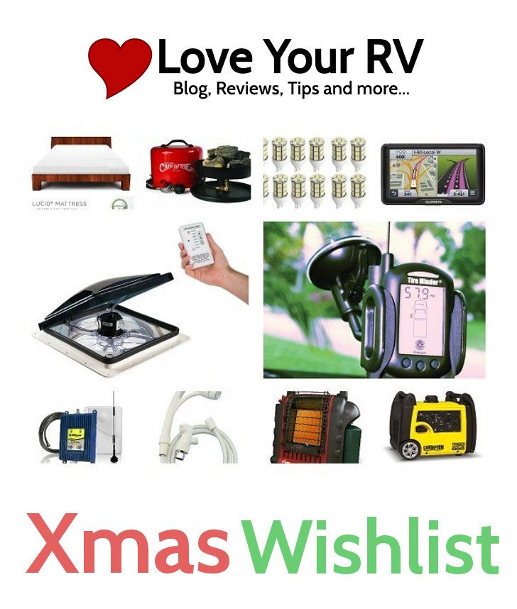 Top Ten on My RV Christmas Wish List from Love Your RV blog - http://www.loveyourrv.com/ #RV #RVing