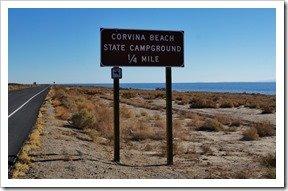 Corvina Beach Sign on Hwy 111