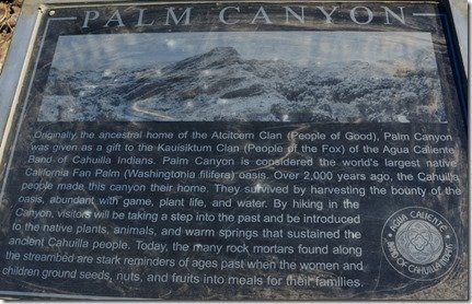 History of Palm Canyon