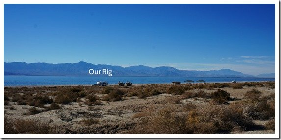 Our spot on Corvina Beach