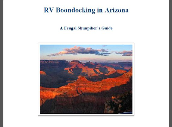 Rv Boondocking In Arizona Ebook Review Love Your Rv Blog