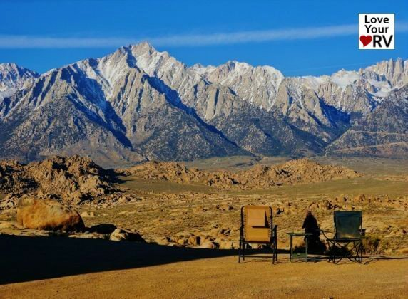 Boondocking at Alabama Hills BLM