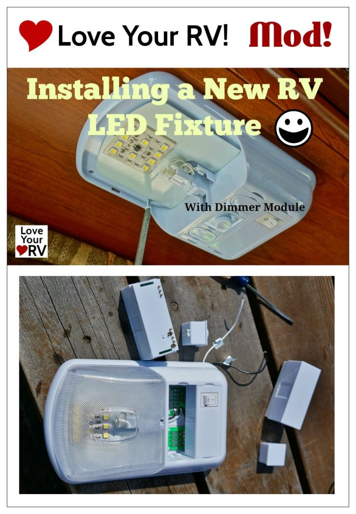 StarLights Brilliant Light LED RV Fixture Install Howto by Love Your RV! - http://www.loveyourrv.com/ #RV #Upgrades