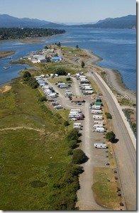 Aerial View of Thunderbird RV Park