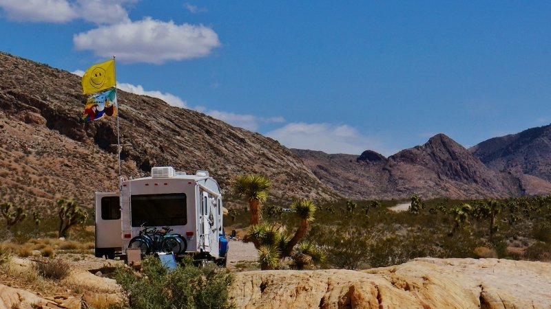 Flying our flag while boondocking