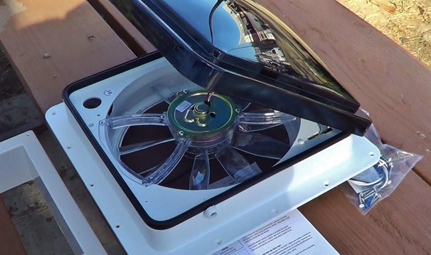 installing the fantastic vent fan into our rv new fantactic fan 2250