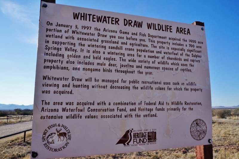 Whitewater draw sign
