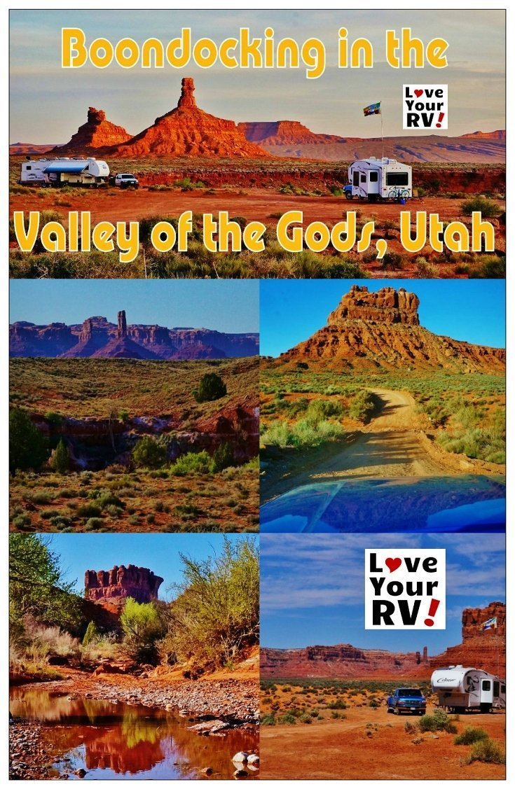 Boondocking Fun in the Valley of the Gods Utah | Love Your RV! blog - http://www.loveyourrv.com/