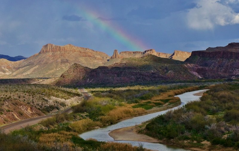 Rainbow over Big Bend Ranch State Park