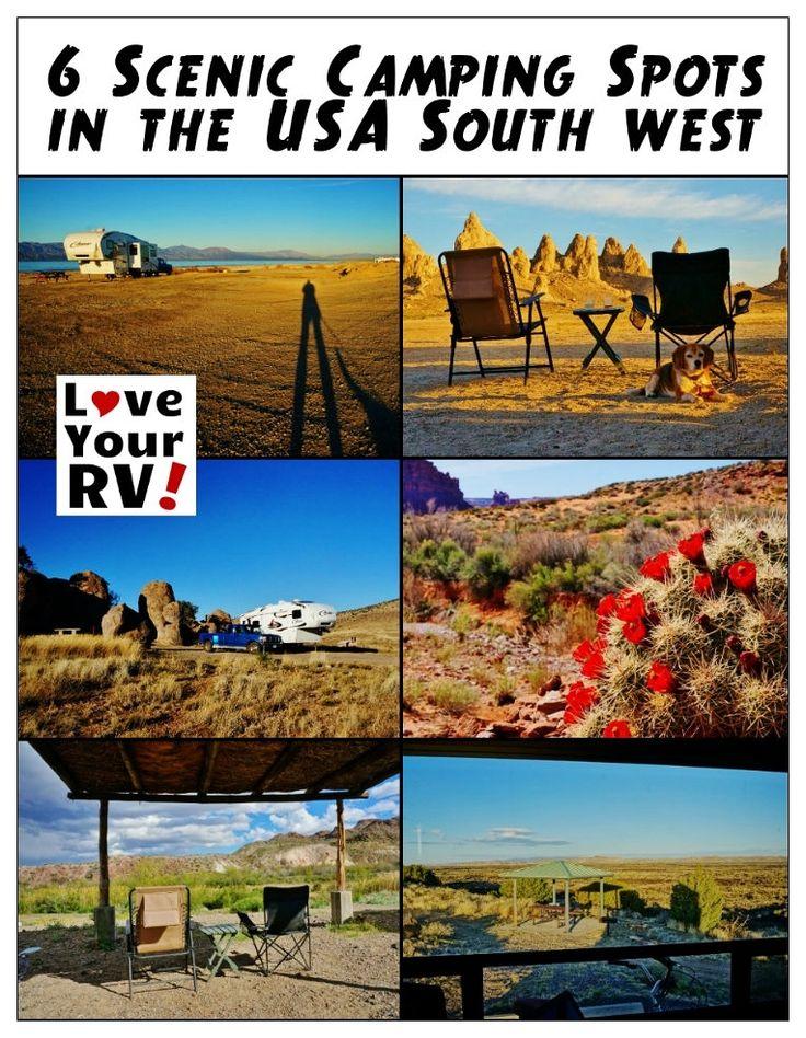 6 Amazingly Scenic US Southwest Desert Campsites - http://www.loveyourrv.com/ #RV #Camping
