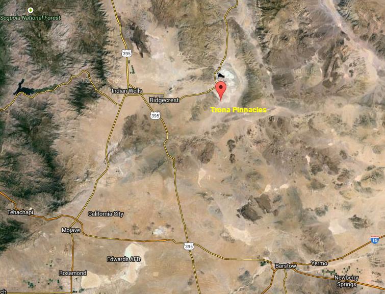 Trona Pinnacles   Google Maps