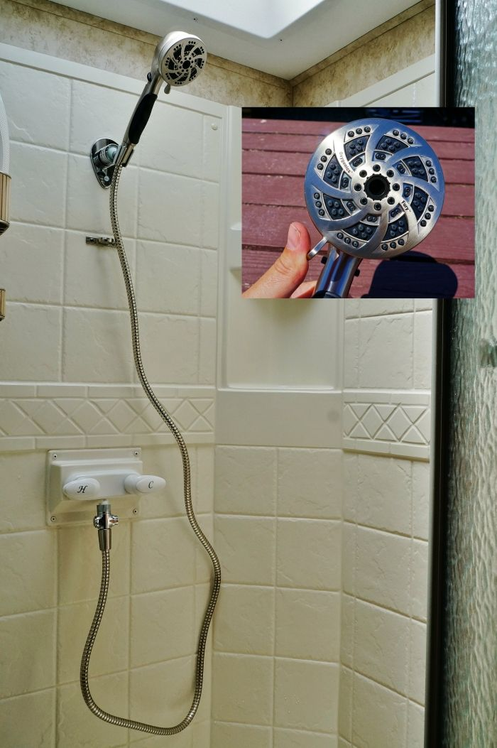 Summer RV Renovation Part Three New shower and underbed lighting | Love Your RV! blog - http://www.loveyourrv.com/