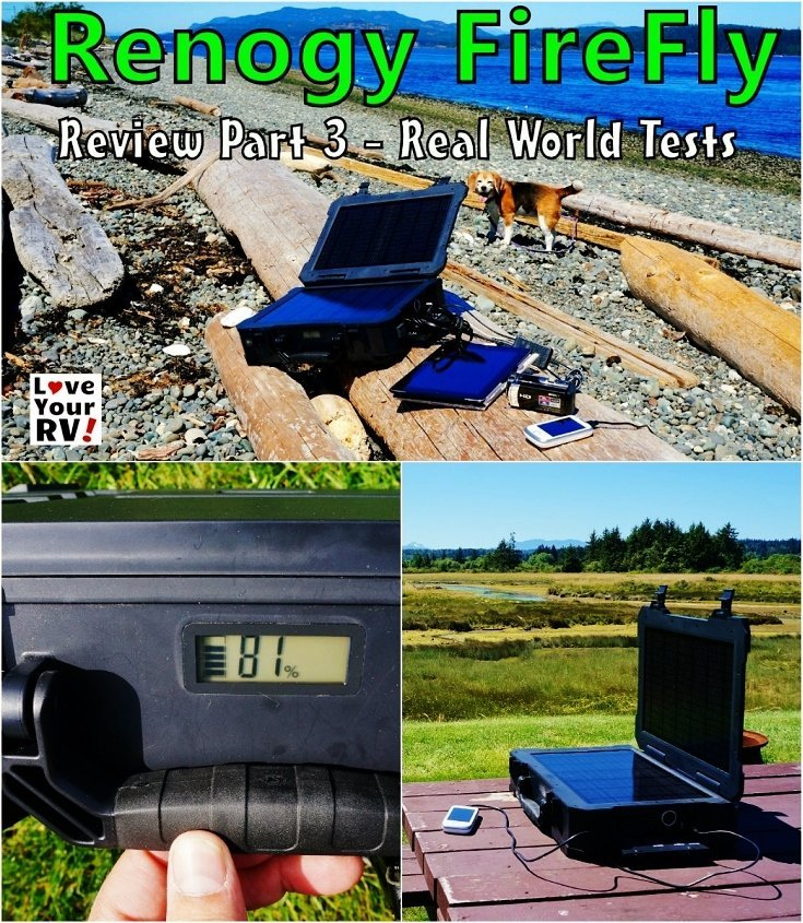 Renogy Firefly Review Part 3 - Real World Tests | Love Your RV! review - http://www.loveyourrv.com/ #camping #solar