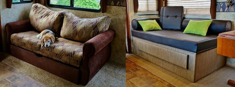 Old Sofa vs New Daybed