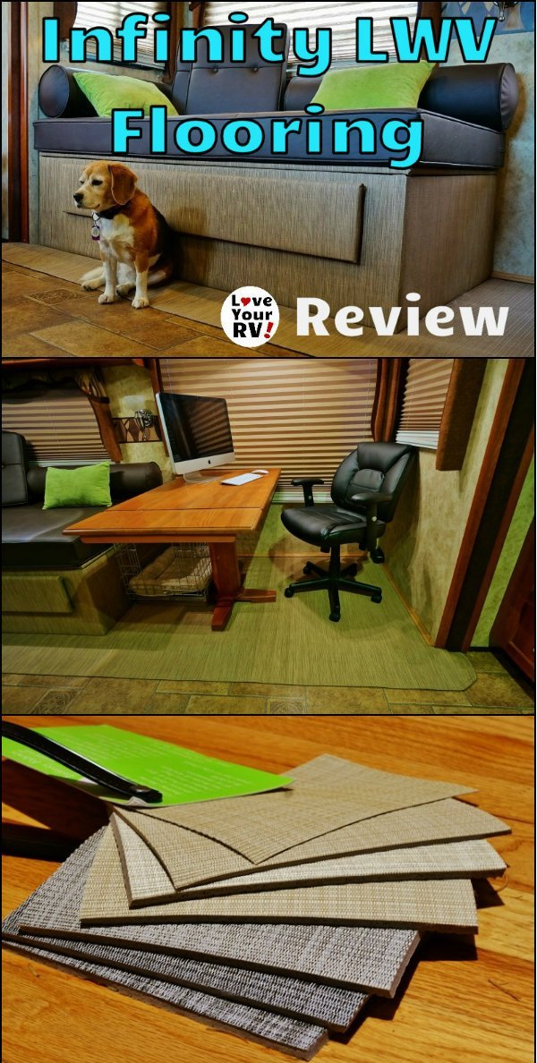 Infinity Luxury Woven Vinyl Flooring Review by the Love Your RV! blog - http://www.loveyourrv.com/ #RVing #DIY