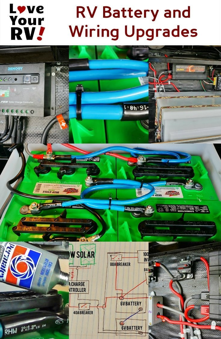 Upgrading My Rv Battery Bank And 12 Volt System Ford F1 6 Generator Wiring Diagram Upgrades Love Your Blog Http