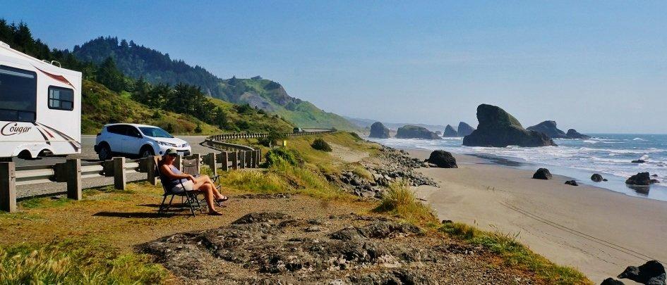 Enjoying the Oregon Coast