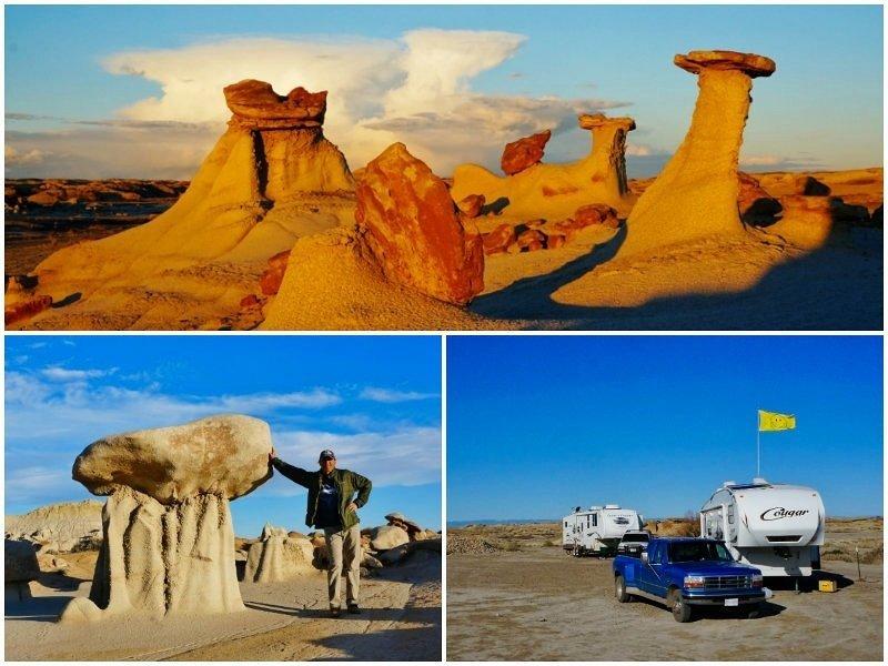 Bisti Badlands New Mexico Collage