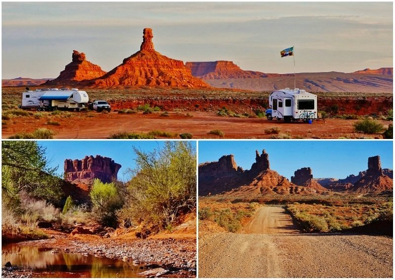 Valley of the Gods BLM Utah Collage