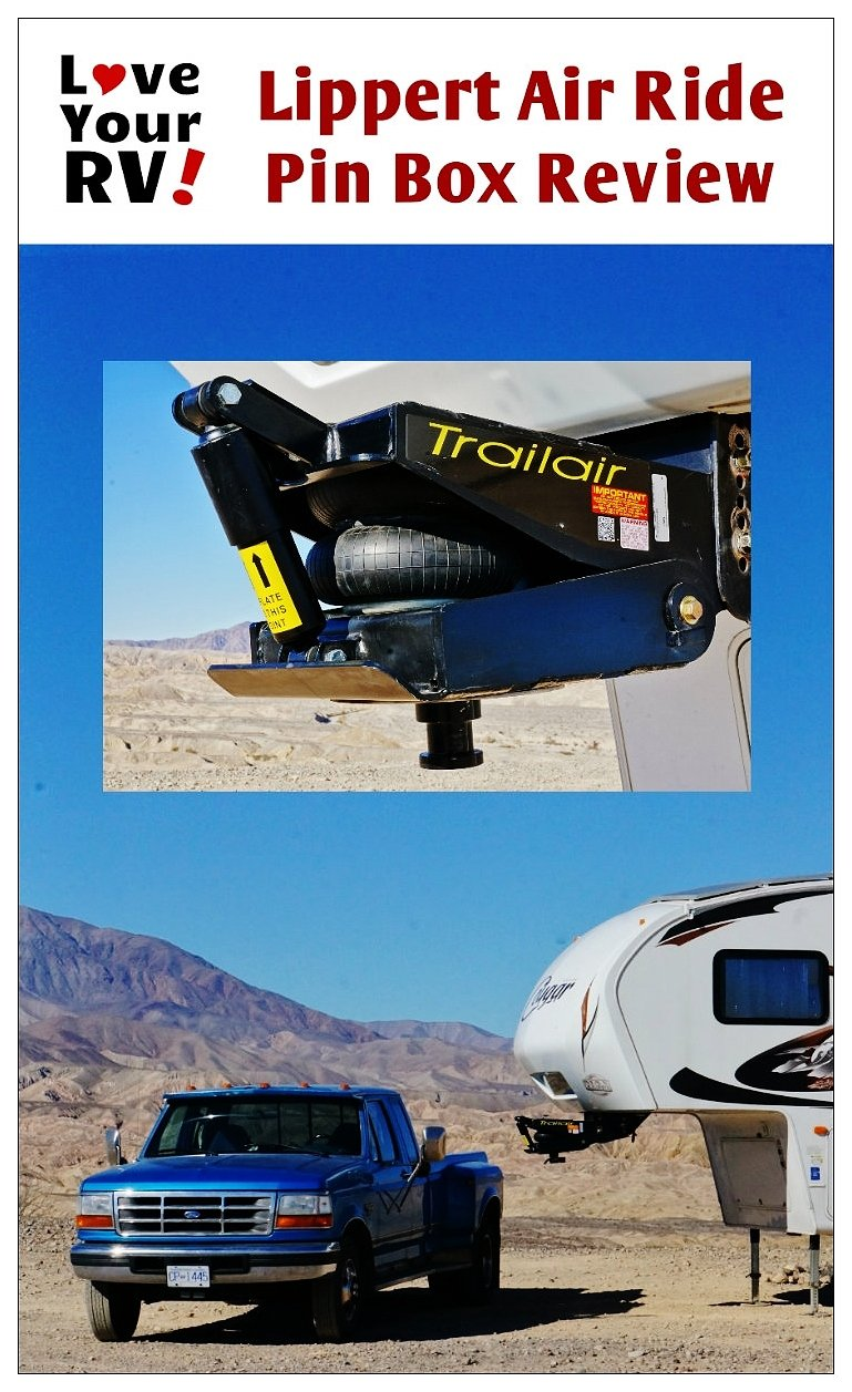 Lippert Air Ride Fifth Wheel Pin Box Demo and Review by the Love Your RV! blog - http://www.loveyourrv.com/ #RV #FifthWheel