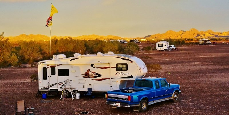 Camped in the Plomosa Road BLM area