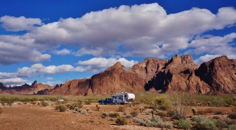 Our Kofa NWR Campsite