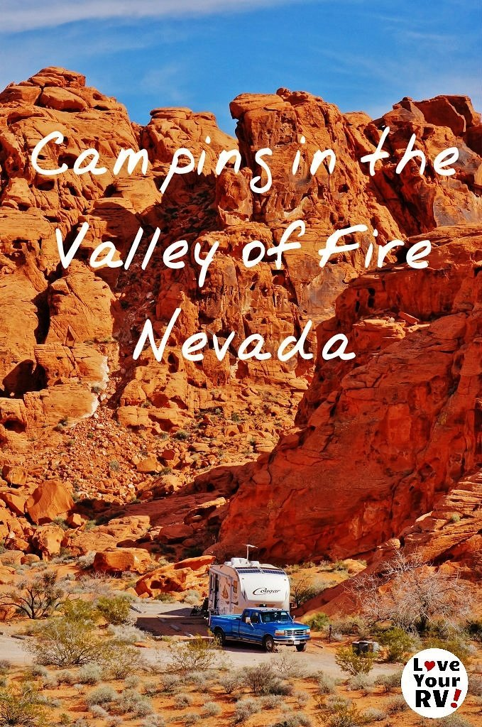 Return visit to camp in the amazing Valley of Fire State Park, Nevada - Love Your RV! blog - http://www.loveyourrv.com/ #RVing #camping