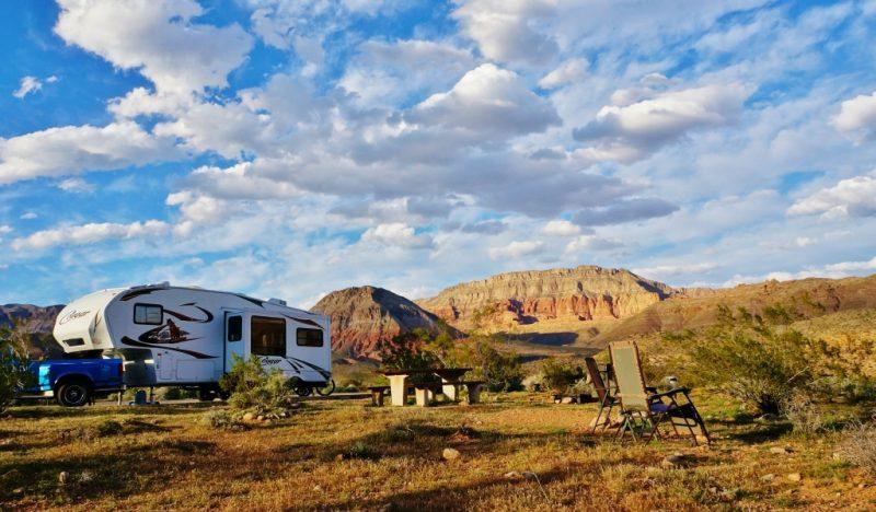 Virgin River Canyon Campground our spot