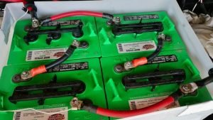 Four Interstate 6 volt batteries