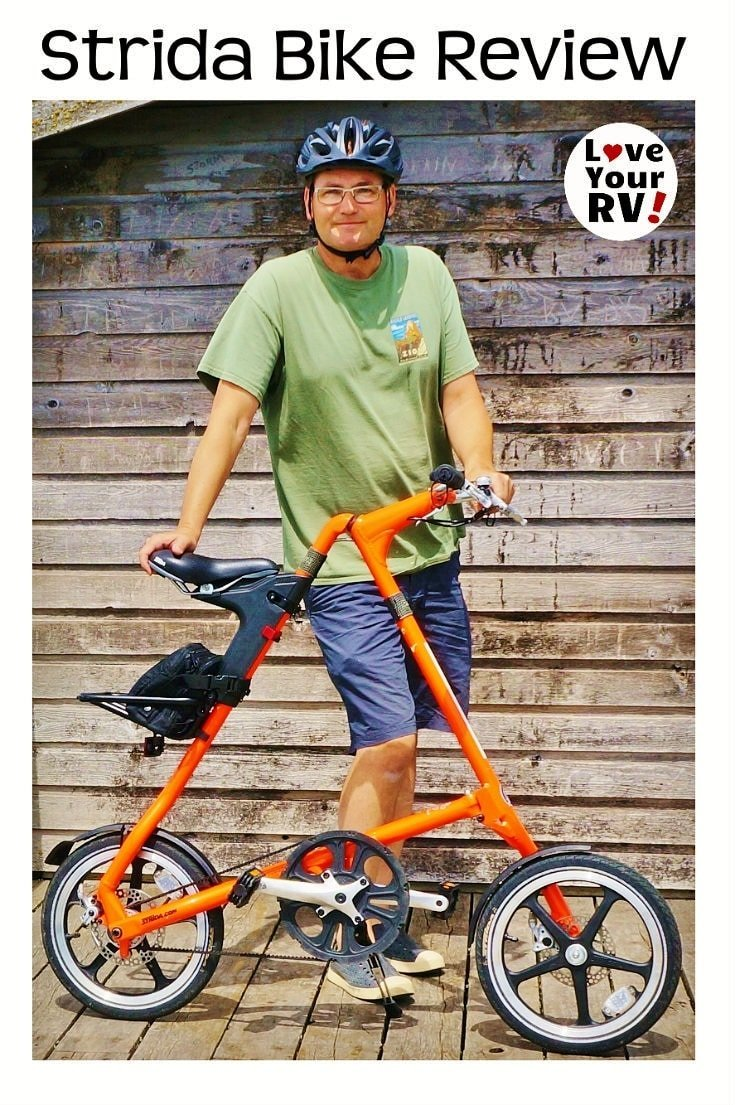 Review of the super compact Strida folding bike by the Love Your RV blog - http://www.loveyourrv.com/ #RV #foldingbikes