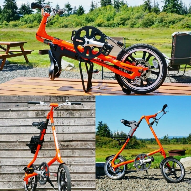 Strida Folding Bike Collage