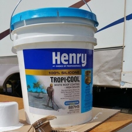 Worn Rubber Roof Repaired Using Henry Tropi Cool Coating
