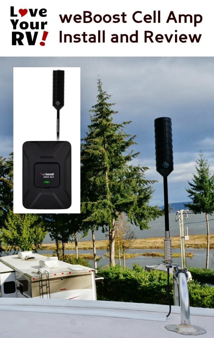 Reviewing the weBoost 4G-X Cellular Amplifier plus the RV Trucker Antenna - http://www.loveyourrv.com/weboost-drive-4g-x-rv-kit-review/