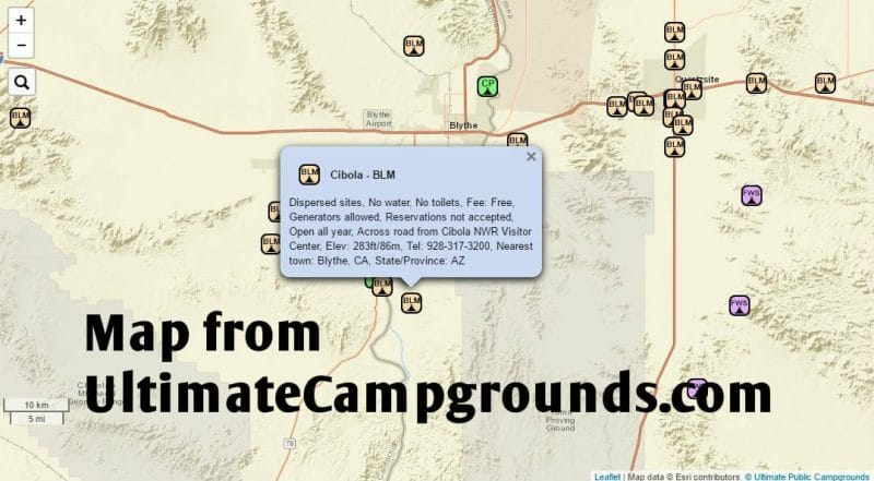 ultimate campgrounds map