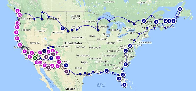Love Your RV! Travel Map