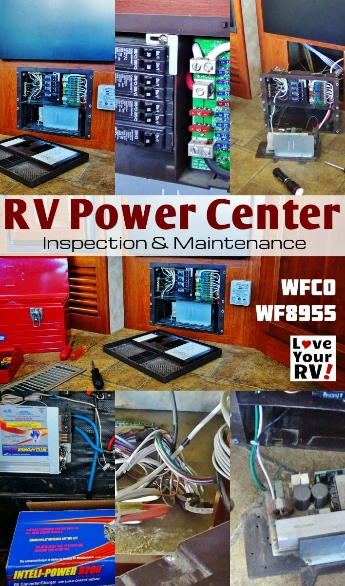 Inspection and Maintenance of my RV Converter WFCO WF8955 by the Love Your RV blog - http://www.loveyourrv.com