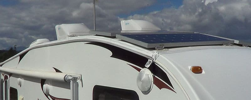 Side and front view of the RV