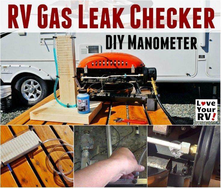 Simple DIY Manometer RV LP Gas Leak Checker made from vinyl tubing and wood - http://www.loveyourrv.com/building-simple-rv-propane-leak-tester-u-tube-manometer/