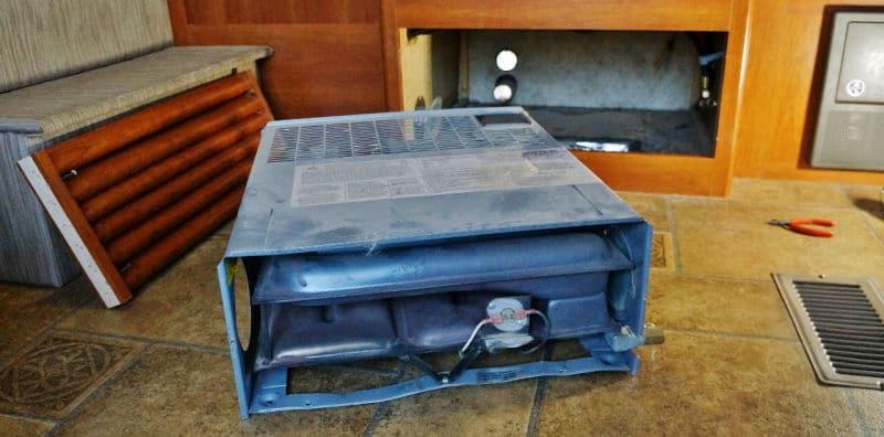 Suburban SF-30F RV furnace removed