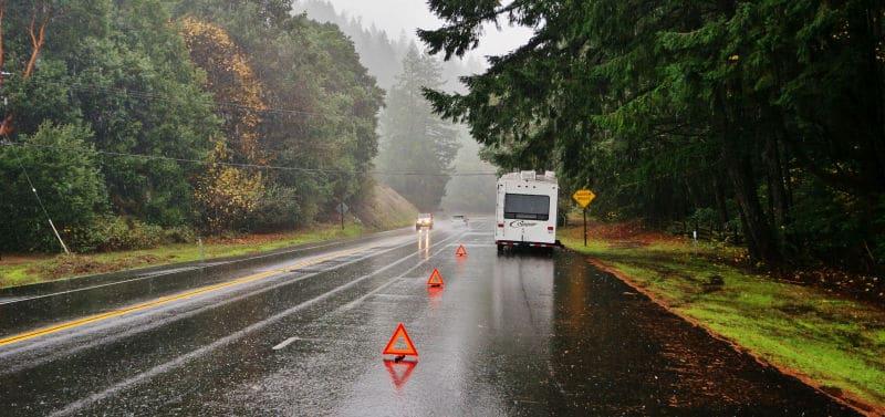 Broke down on Highway 101 Leggett California